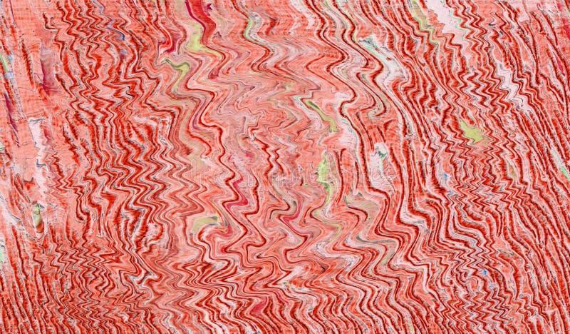 Modèle abstrait avec des vagues et des ondulations illustration stock