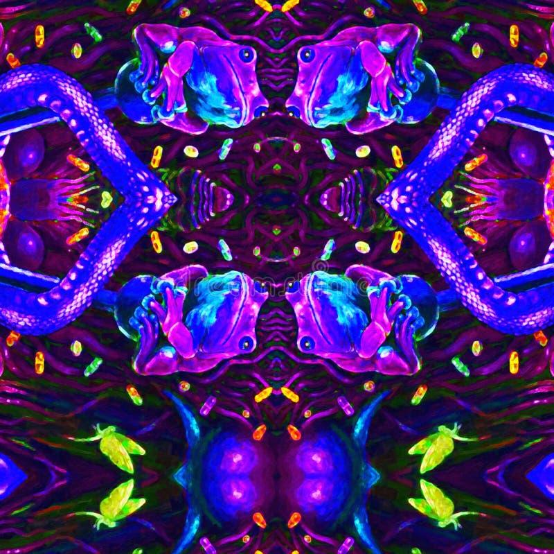 Modèle abstrait avec l'ornement lumineux Beauté sans joint grasse Fond sans couture floral contrastant illustration de vecteur