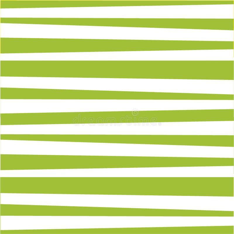 Modèle abstrait avec les rayures vert clair et blanches horizontales illustration stock