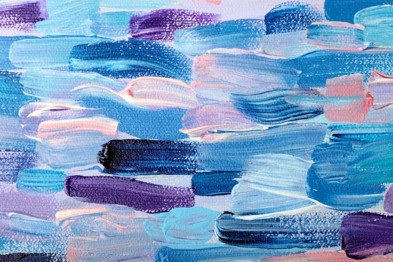 Modèle abstrait coloré de peinture à l'huile illustration stock
