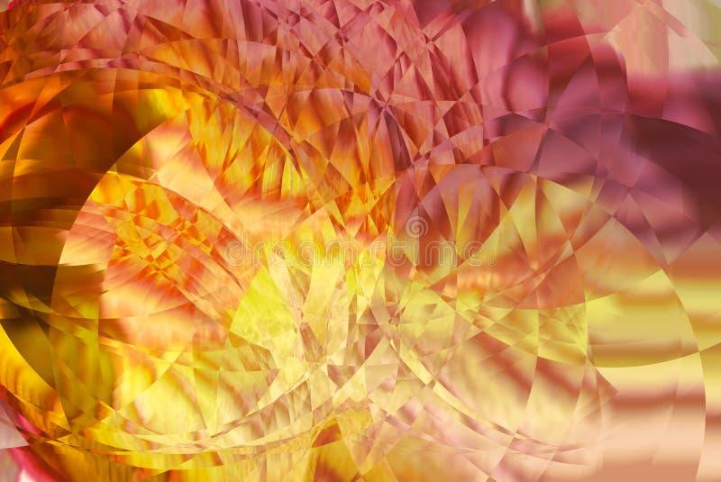 Modèle abstrait coloré, ondulations en verre images libres de droits