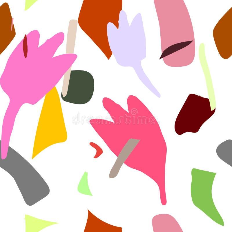 Modèle abstrait d'enfants Modèle de dessin de vecteur avec illustration libre de droits
