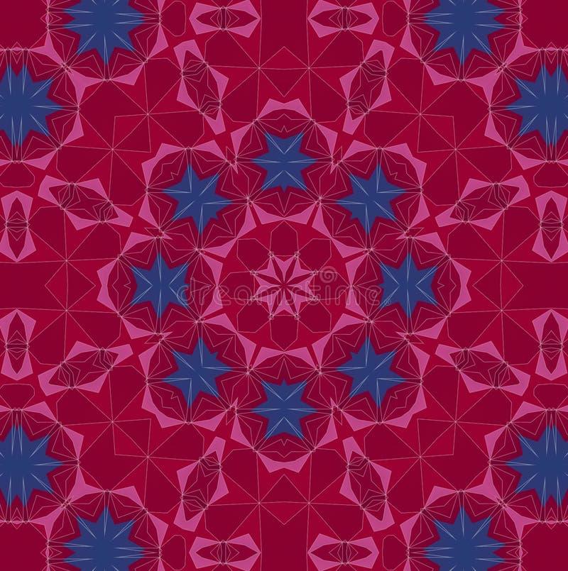 Modèle abstrait de fond, kaléidoscope illustration stock