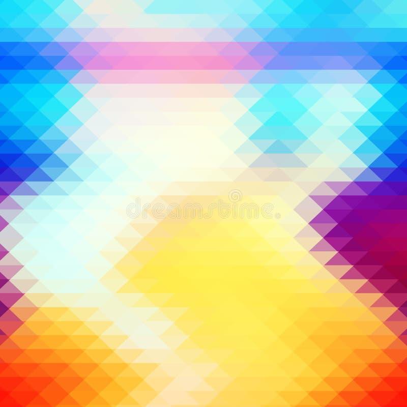 Modèle abstrait de hippies avec le losange coloré lumineux illustration de vecteur