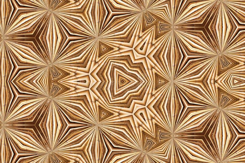 Modèle abstrait de kaléidoscope de texture et de fond en bambou jaunes images stock