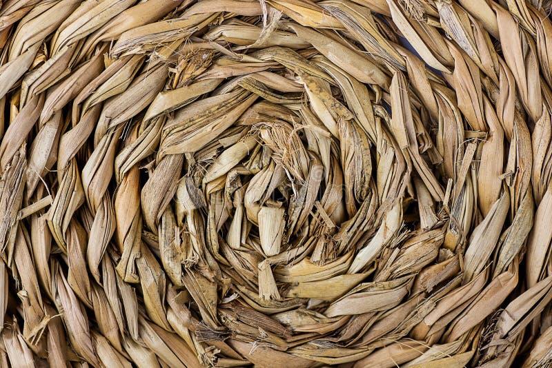 Modèle abstrait de la texture en osier tissée par main faite en saule, rotin, bambou Surface brute approximative pour le contexte photographie stock libre de droits