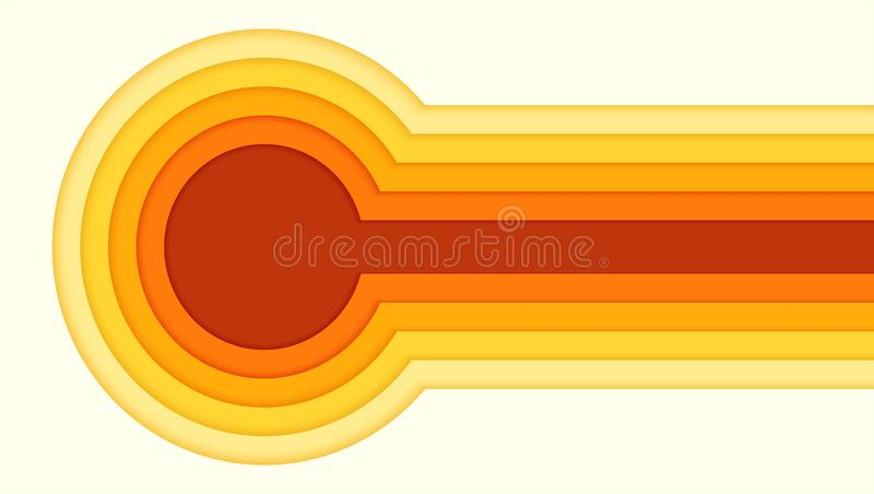 Modèle abstrait de papier coloré de coupe Conception d'affiche avec le découpage multi de couches du papier Calibre horizontal de illustration libre de droits