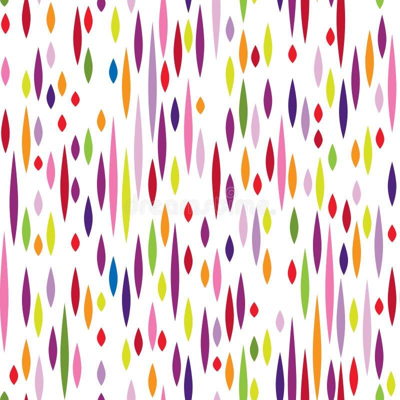 Modèle abstrait de tache Ornement sans couture de vacances multicolores illustration stock