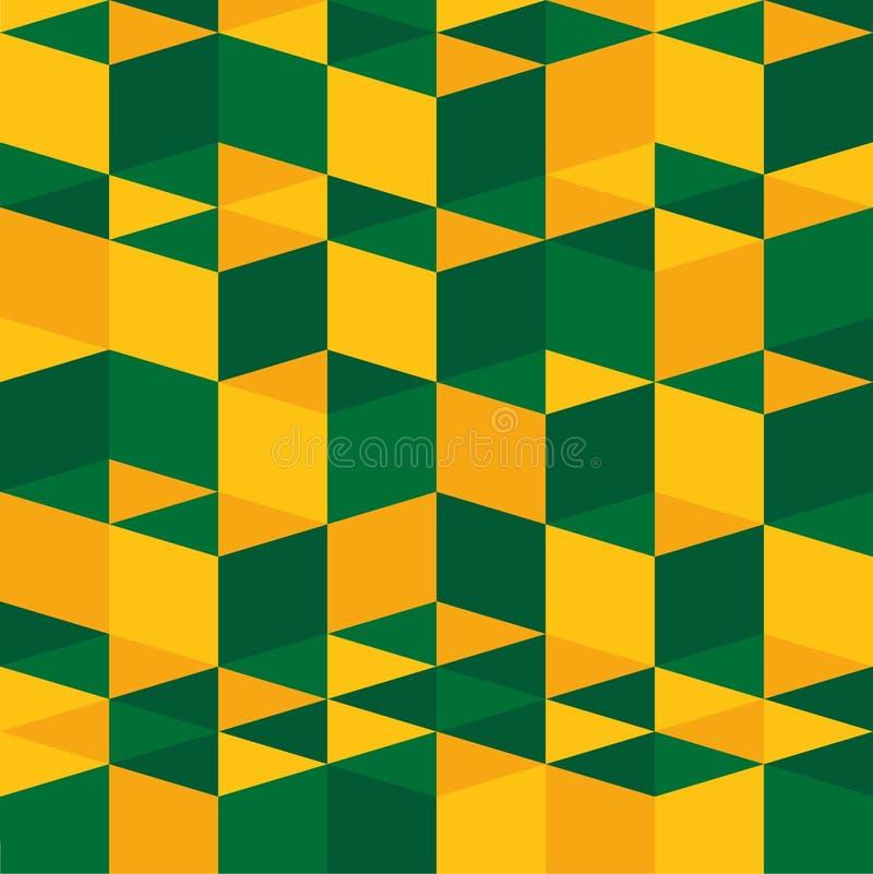 Modèle abstrait de texture de bacground - vert et jaune photos stock
