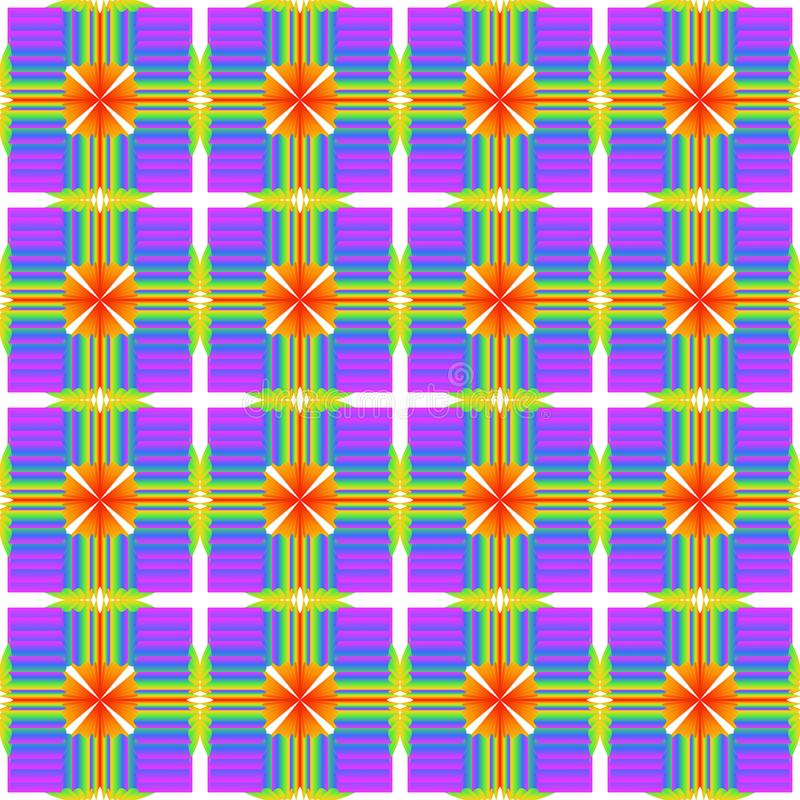 Modèle abstrait de texture multicolore de gradient Les couleurs d'ultra-violet, bleu, vert, jaune, orange, rouge illustration stock