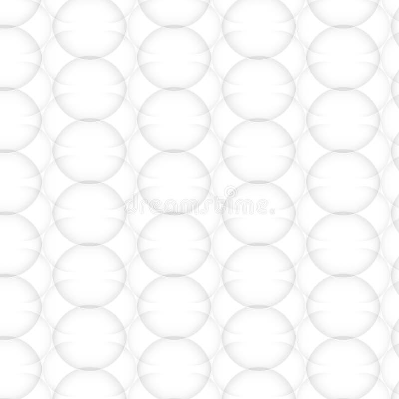 Modèle abstrait de vecteur sans couture texture blanche Maille de cercle illustration de vecteur