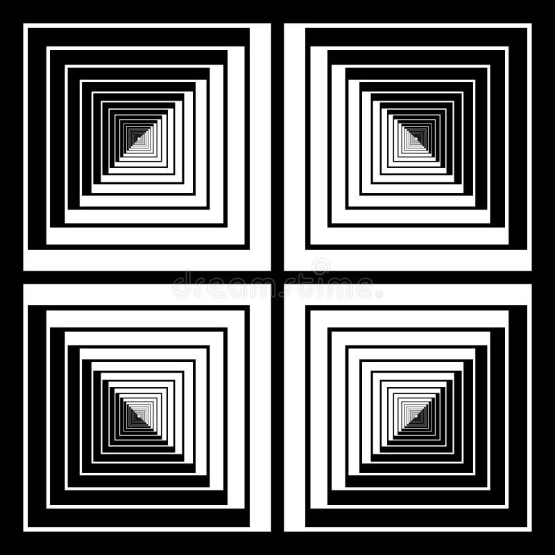 Modèle abstrait du côté tramé de bande d'effet d'illusion de places de la place illustration de vecteur