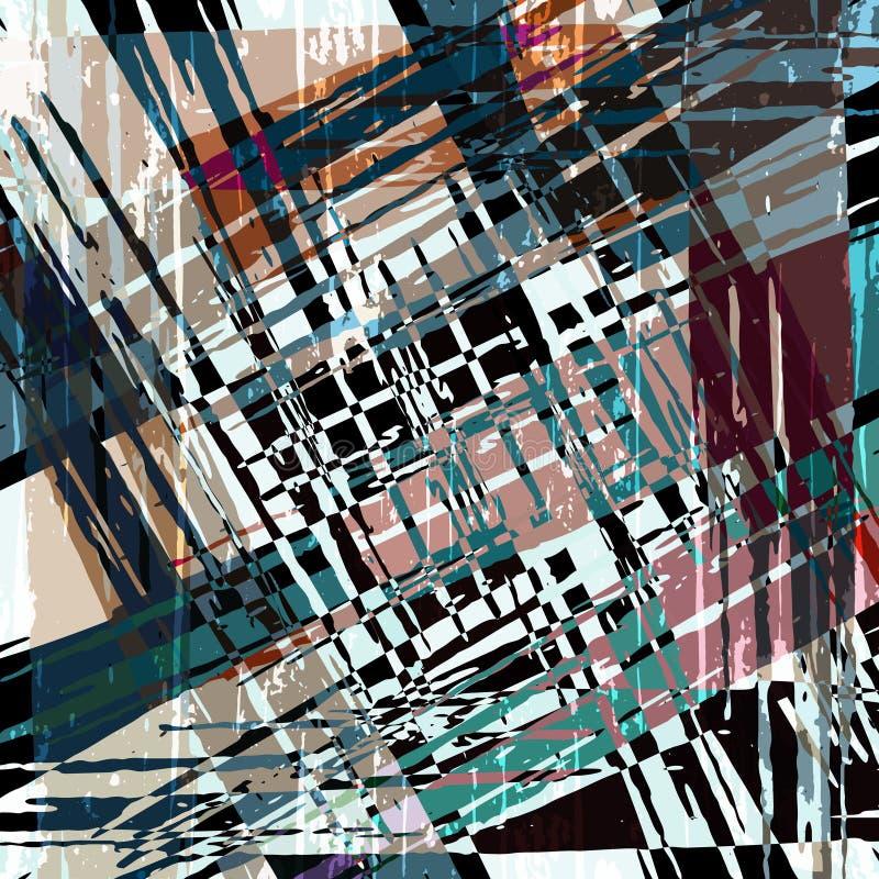 Modèle abstrait géométrique de couleur dans le style de graffiti illustration de vecteur de qualité pour votre conception illustration de vecteur