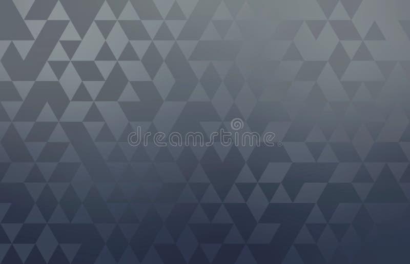 Modèle abstrait géométrique en métal gris-foncé Fond moderne simple minimal illustration de vecteur