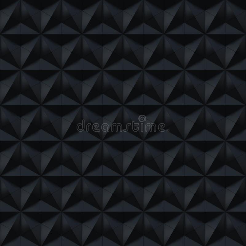 Modèle abstrait noir de surface de soulagement - fond carré illustration libre de droits