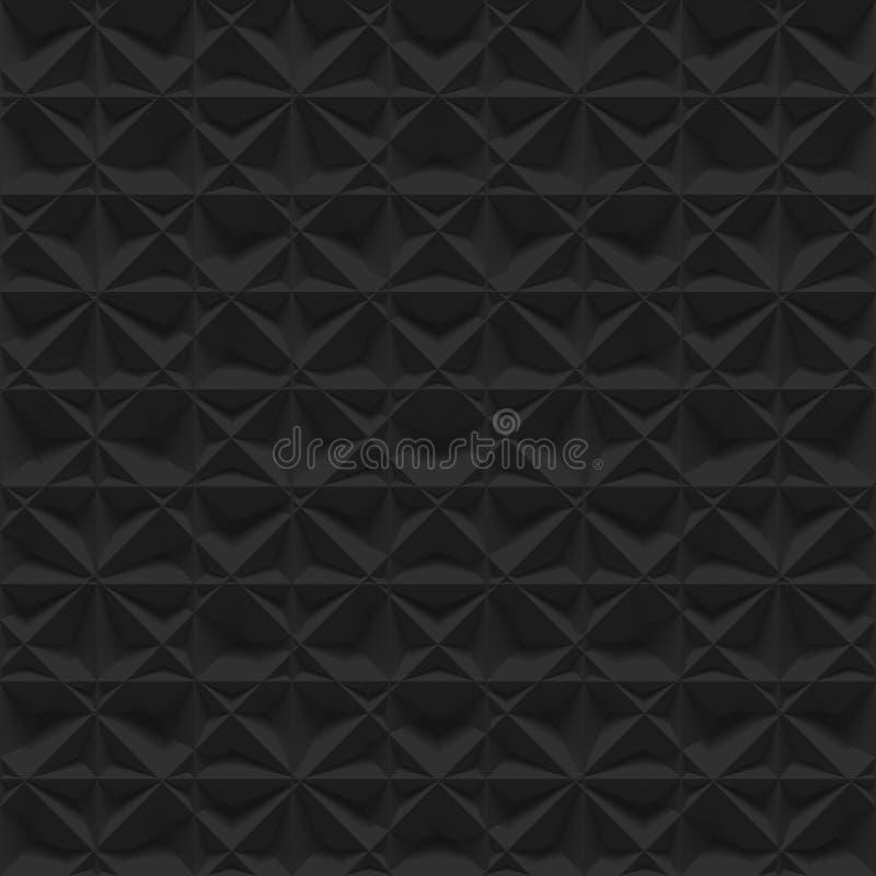 Modèle abstrait noir de surface de soulagement - fond carré illustration stock