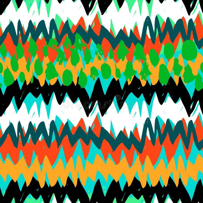 Modèle abstrait peint à la main grunge illustration stock