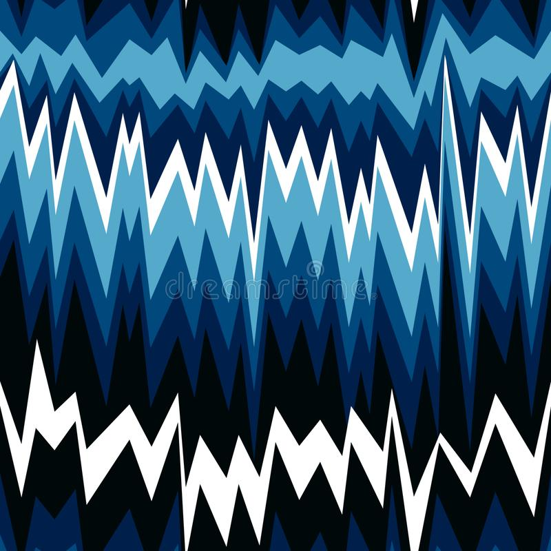 Modèle abstrait sans couture avec des lignes de zigzag illustration stock