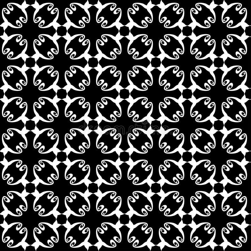 Modèle abstrait sans couture de blanc de noir de vintage illustration libre de droits