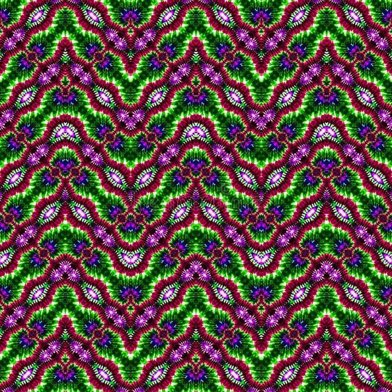 Modèle abstrait sans couture de colorant de lien de fond photos stock
