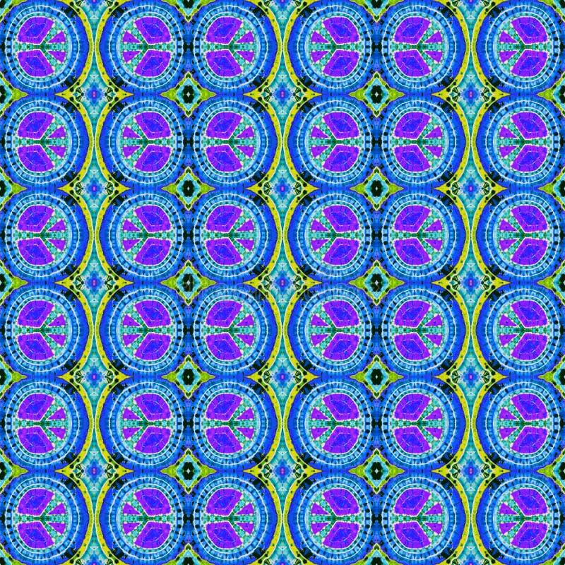 Modèle abstrait sans couture de colorant de lien de fond images stock