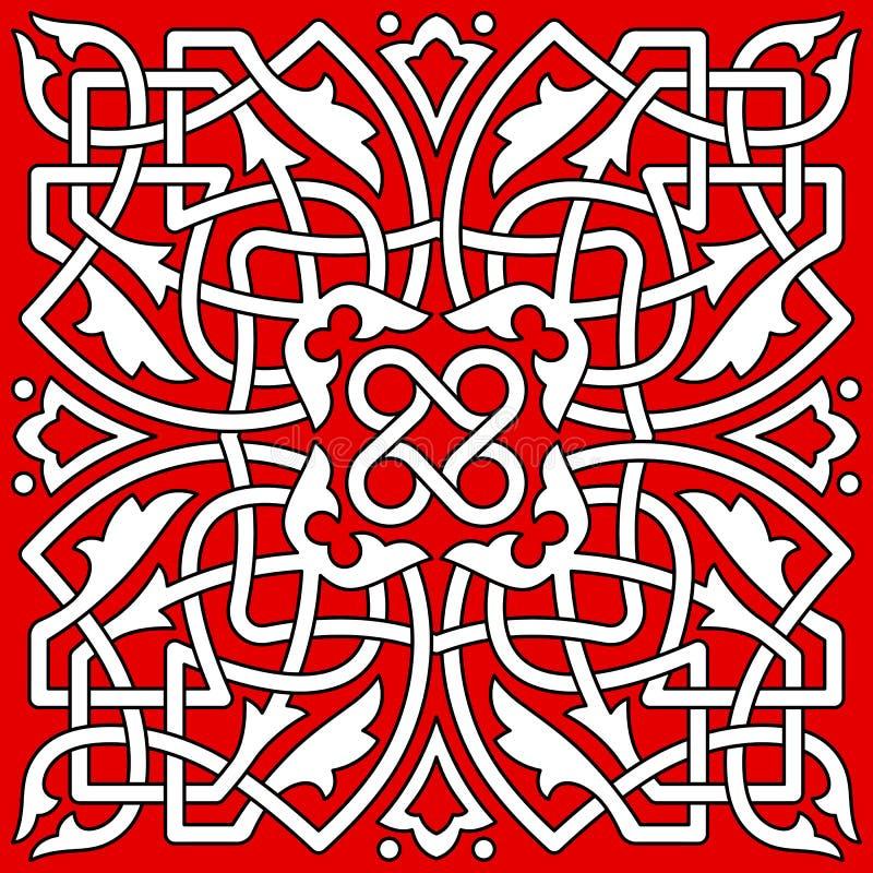 Modèle abstrait sans couture de décoration illustration de vecteur