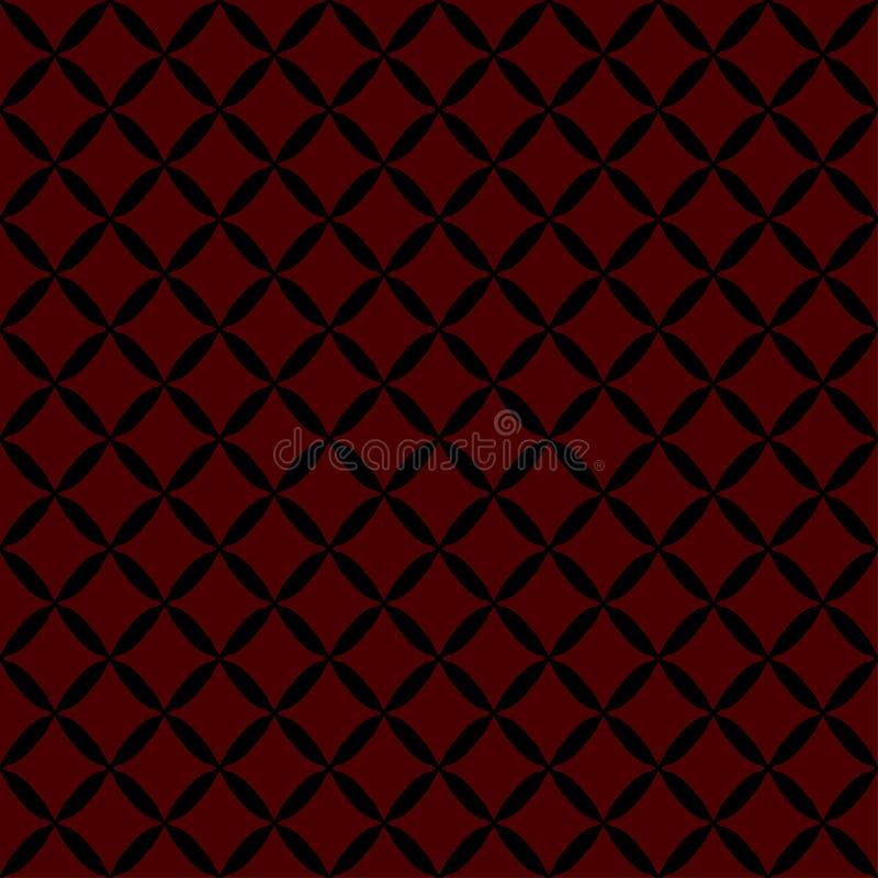Modèle abstrait sans couture de noir de grille illustration de vecteur
