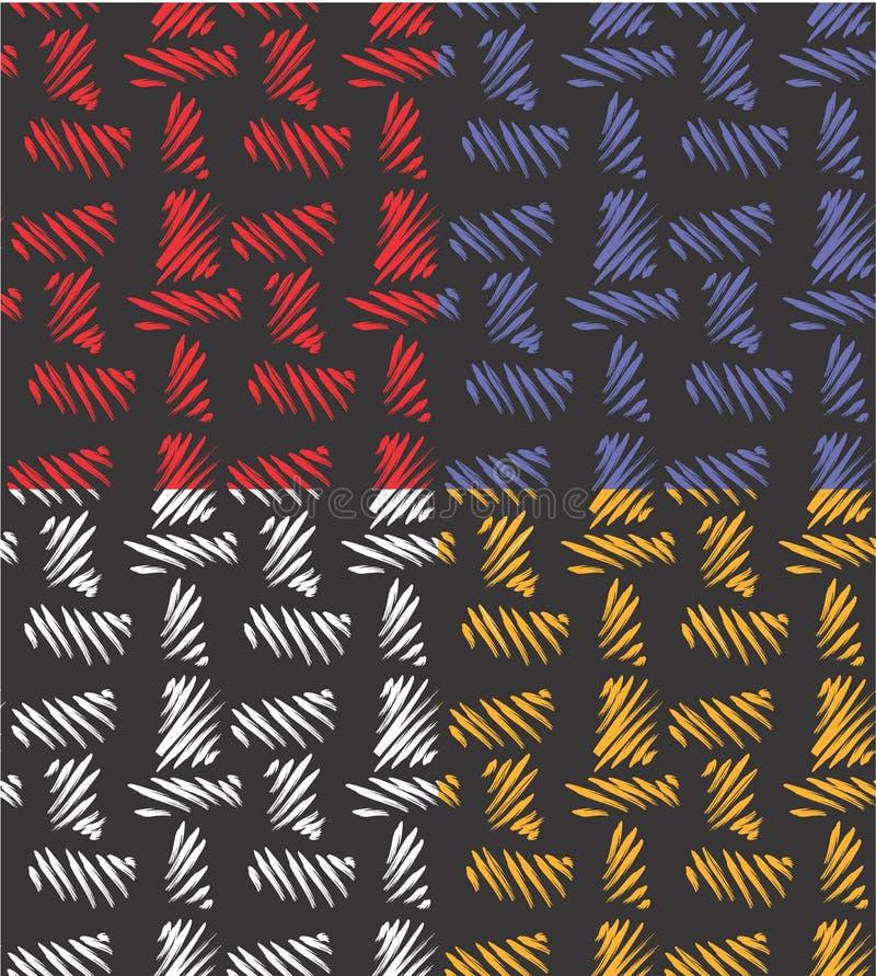 Modèle abstrait sans couture de texture de toile de jute illustration de vecteur