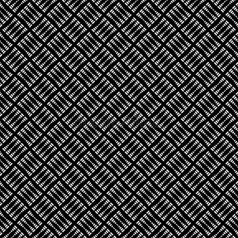 Modèle abstrait sans couture de vecteur noir et blanc Papier peint abstrait de fond Illustration de vecteur illustration libre de droits