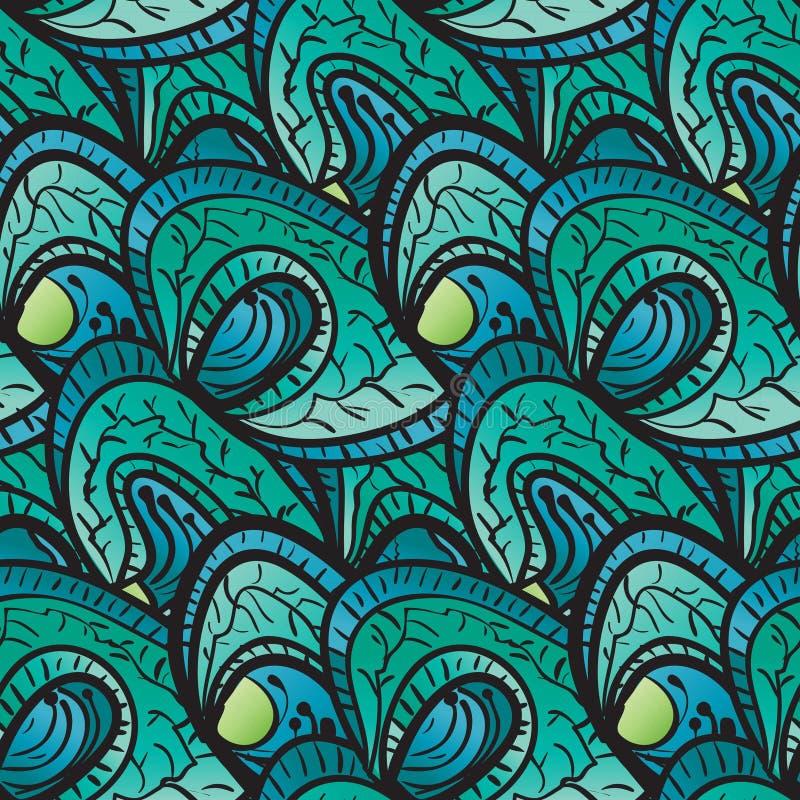 Modèle abstrait sans couture des plantes vertes illustration stock