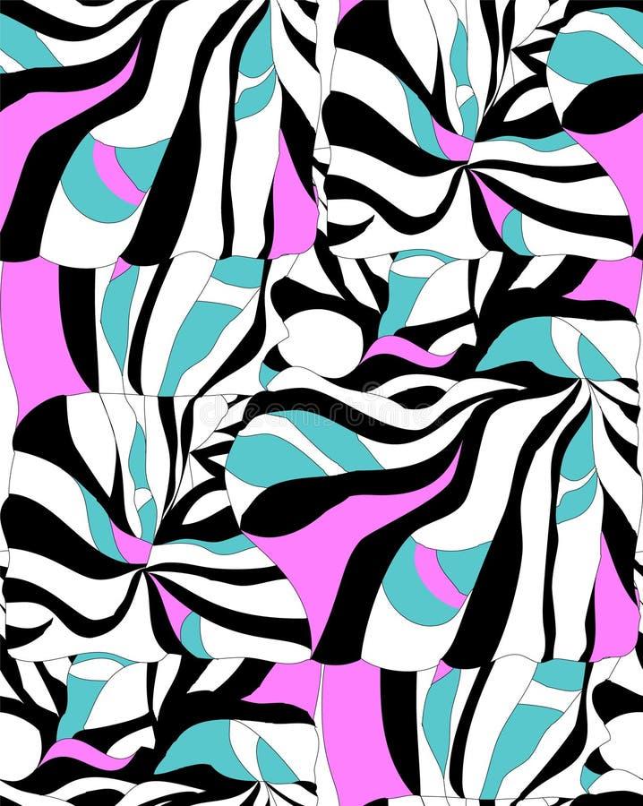 Modèle abstrait sans couture pour l'été illustration stock