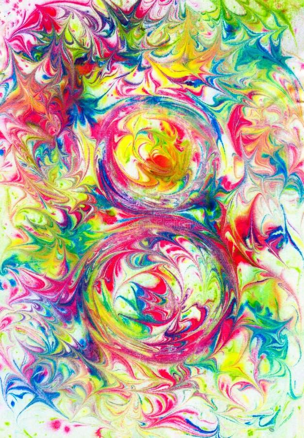 Modèle abstrait sur un fond coloré photo stock
