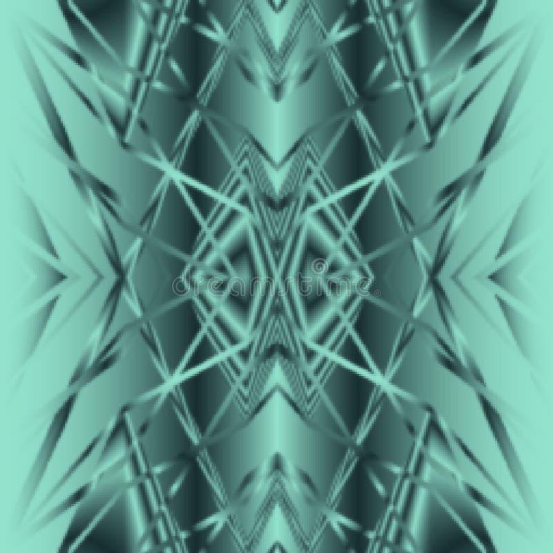 Modèle abstrait tribal bleu de fond d'Aqua illustration de vecteur