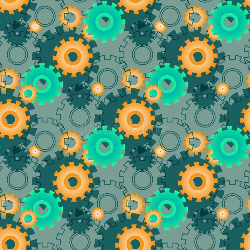 Modèle actuel de vecteur avec les vitesses vertes Roues géométriques créatives de fond illustration de vecteur