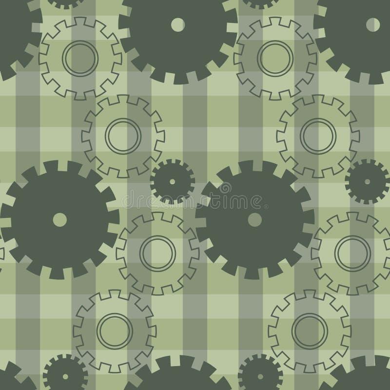 Modèle actuel de vecteur avec les vitesses vertes Roues géométriques créatives de fond illustration stock