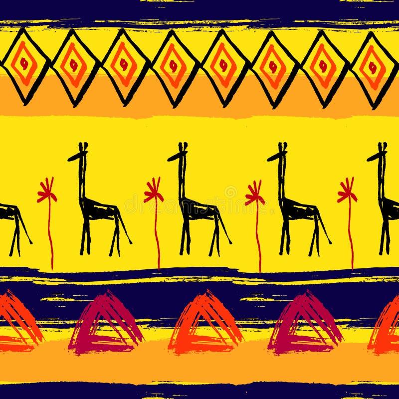 Modèle africain sans couture de traçages illustration de vecteur
