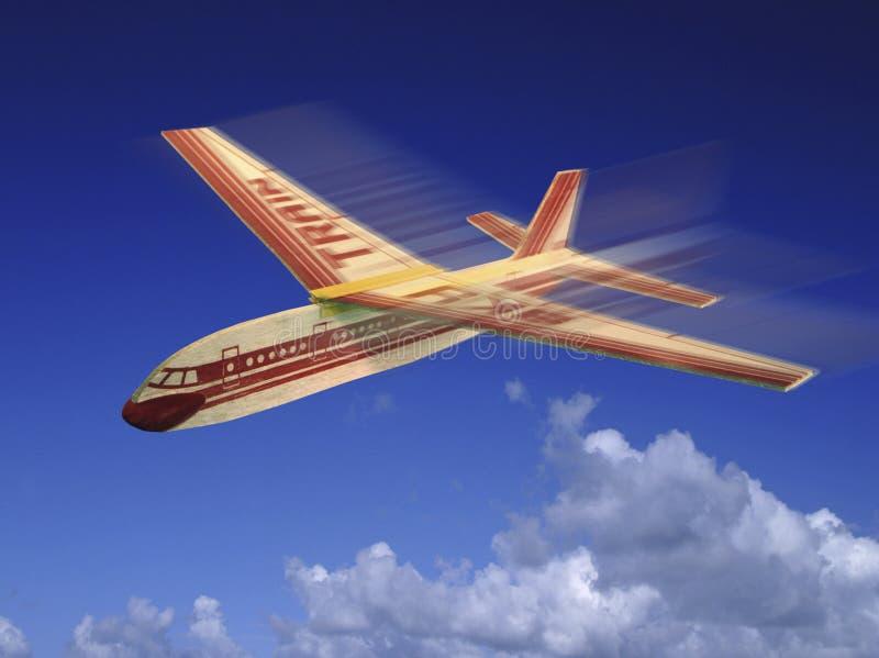 Modèle Aircraft en bois de balsa images libres de droits