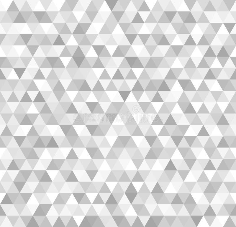Modèle argenté de triangle Fond métallique de vecteur sans couture illustration libre de droits
