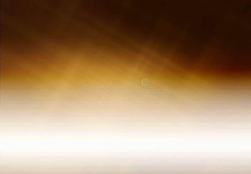 Modèle artistique abstrait de Brown d'or de gradient sur une texture à moitié blanc illustration libre de droits