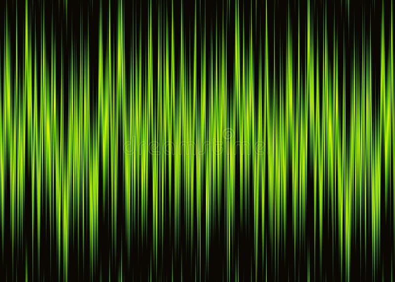 Modèle au néon de forme d'onde avec l'espace de copie illustration stock