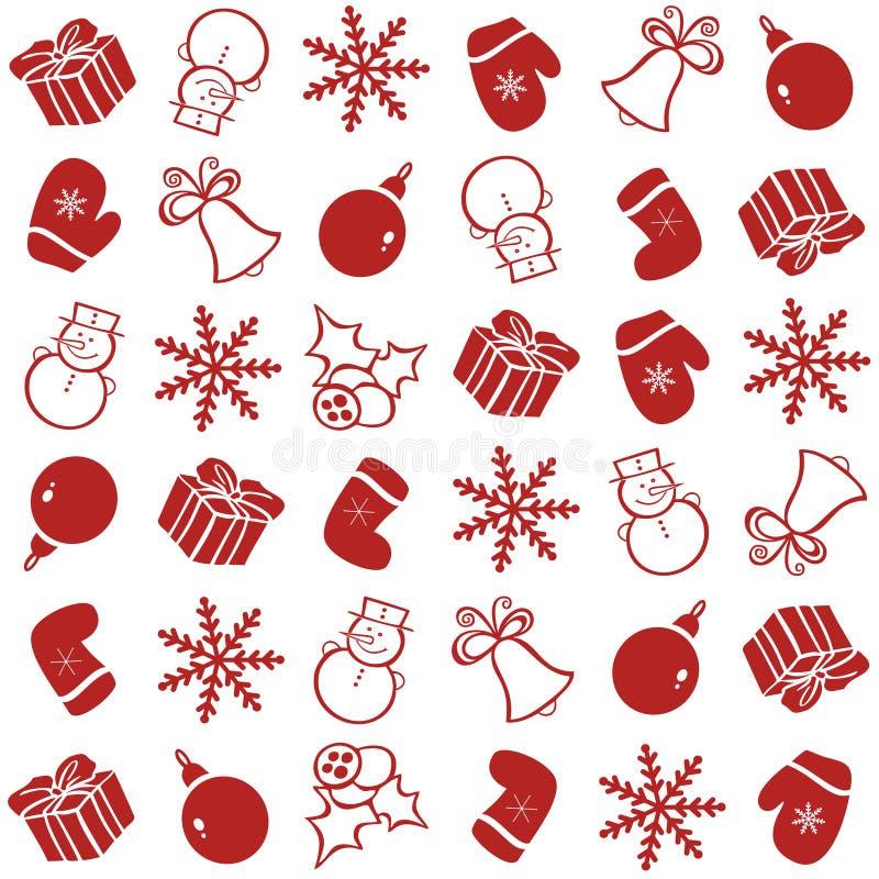 Modèle avec des éléments de Noël pour le fond images stock