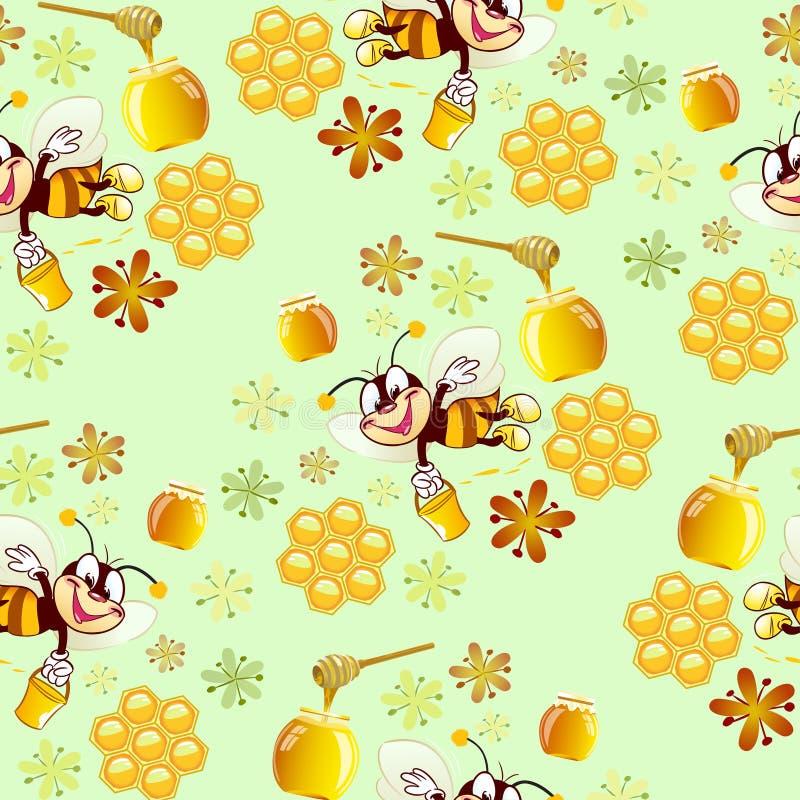 Modèle avec des abeilles illustration de vecteur