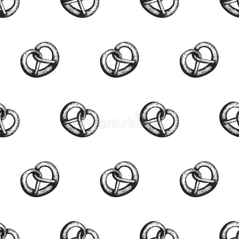 Modèle avec des bretzels photographie stock libre de droits