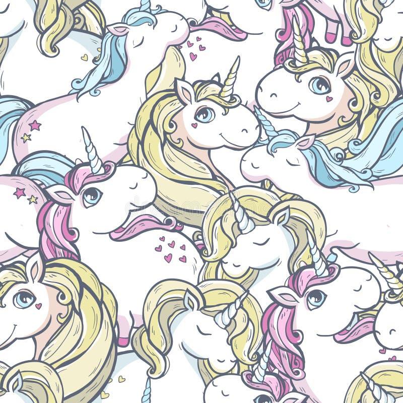 Modèle avec des licornes illustration stock