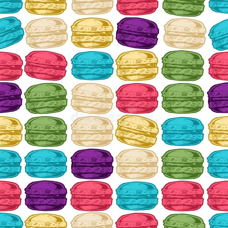 Modèle avec des macarons illustration libre de droits