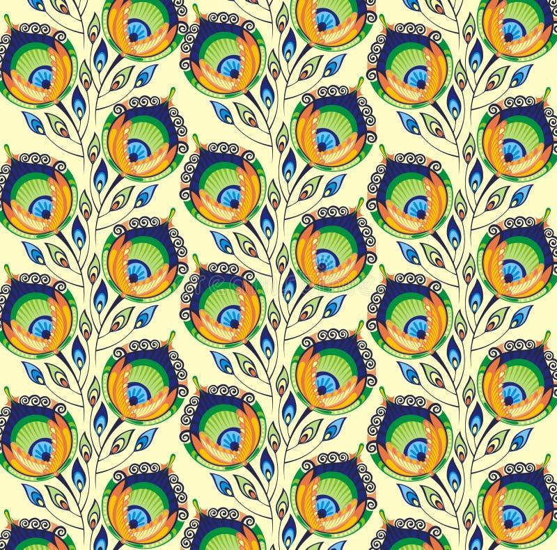 Modèle avec des plumes de paon illustration libre de droits