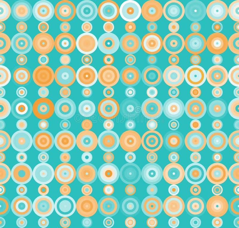 Modèle avec des points et des cercles dans le rétro style illustration de vecteur