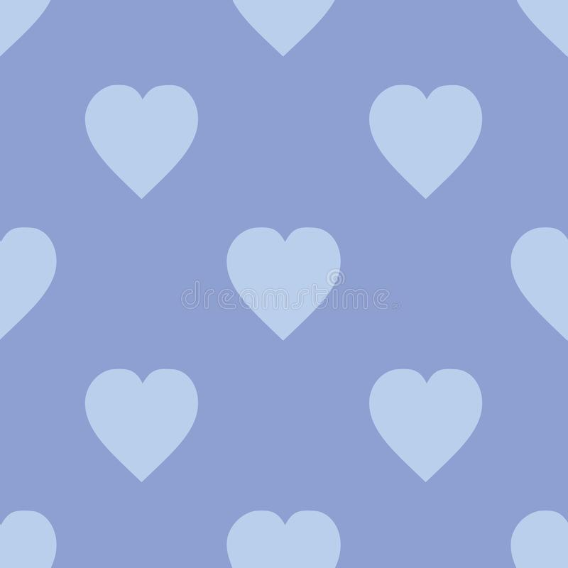 Modèle avec l'illustration sans couture lilas de vecteur de coeurs illustration libre de droits