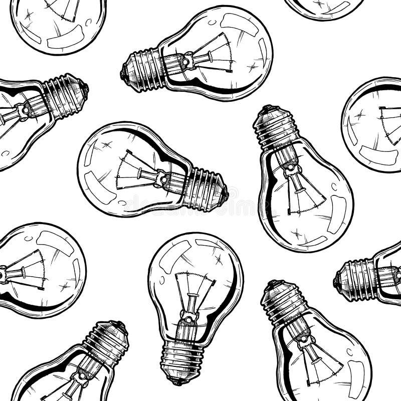 Modèle avec la lampe à incandescence de butées toriques illustration libre de droits