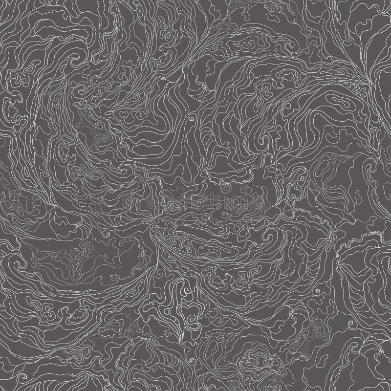 Modèle avec la texture d'image de la fumée frontière blanche sur un fond gris-foncé Vecteur illustration de vecteur